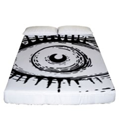 Big Eye Monster Fitted Sheet (king Size)