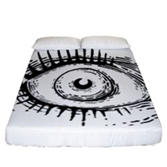Big Eye Monster Fitted Sheet (california King Size)