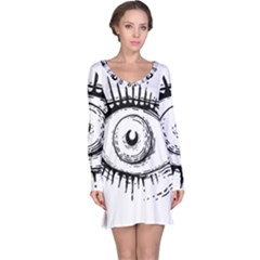 Big Eye Monster Long Sleeve Nightdress