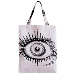 Big Eye Monster Zipper Classic Tote Bag