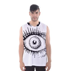 Big Eye Monster Men s Basketball Tank Top