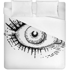 Big Eye Monster Duvet Cover (king Size)
