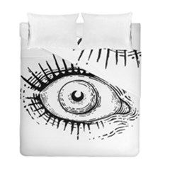 Big Eye Monster Duvet Cover Double Side (full/ Double Size)