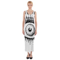 Big Eye Monster Fitted Maxi Dress