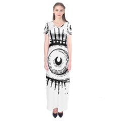 Big Eye Monster Short Sleeve Maxi Dress
