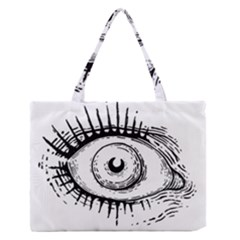 Big Eye Monster Zipper Medium Tote Bag