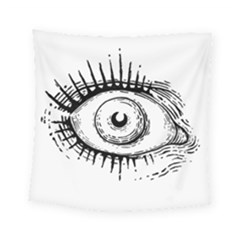 Big Eye Monster Square Tapestry (small)