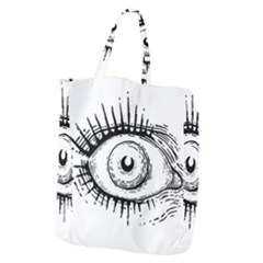 Big Eye Monster Giant Grocery Zipper Tote