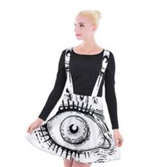 Big Eye Monster Suspender Skater Skirt