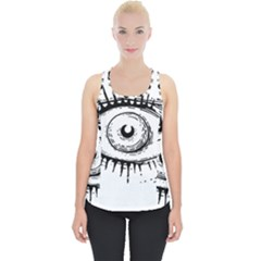 Big Eye Monster Piece Up Tank Top