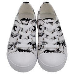 Big Eye Monster Kids  Low Top Canvas Sneakers