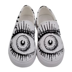 Big Eye Monster Women s Canvas Slip Ons