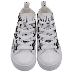Big Eye Monster Kid s Mid Top Canvas Sneakers