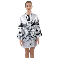 Big Eye Monster Long Sleeve Kimono Robe