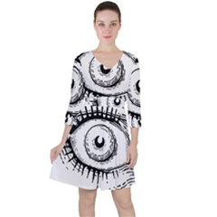 Big Eye Monster Ruffle Dress