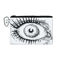 Big Eye Monster Canvas Cosmetic Bag (medium)