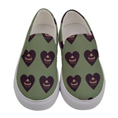 Cupcake Green Women s Canvas Slip Ons