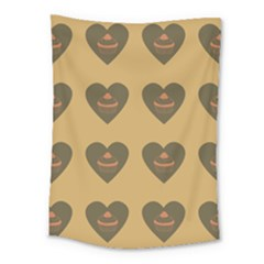 Cupcake Pumpkin Orange Grey Medium Tapestry