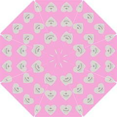 Cupcake Pink Grey Hook Handle Umbrellas (small)