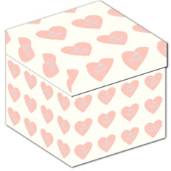 Cupcake White Pink Storage Stool 12