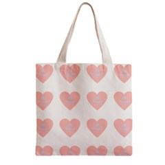 Cupcake White Pink Zipper Grocery Tote Bag