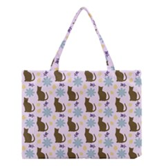 Outside Brown Cats Medium Tote Bag