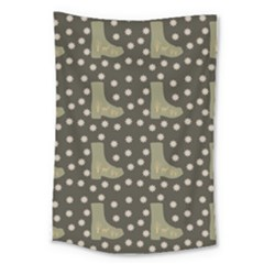 Charcoal Boots Large Tapestry