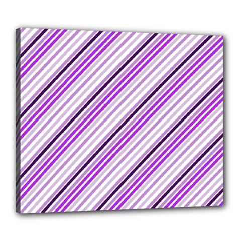 Purple Diagonal Lines Canvas 24  X 20