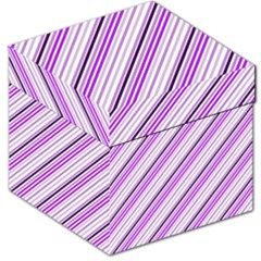 Purple Diagonal Lines Storage Stool 12