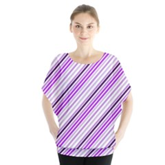 Purple Diagonal Lines Blouse