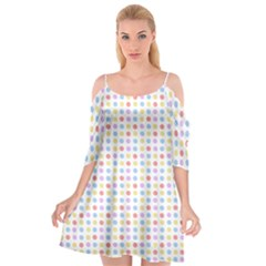 Blue Pink Yellow Eggs On White Cutout Spaghetti Strap Chiffon Dress