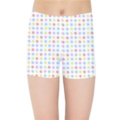 Blue Pink Yellow Eggs On White Kids Sports Shorts