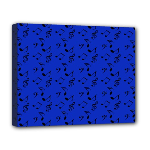 Royal Blue Music Deluxe Canvas 20  X 16