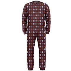 Grey Pink Lilac Brown Eggs On Brown Onepiece Jumpsuit (men)