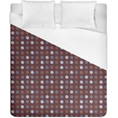 Grey Pink Lilac Brown Eggs On Brown Duvet Cover (california King Size)