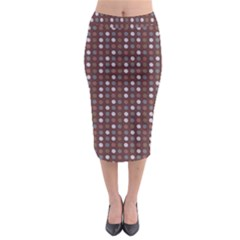Grey Pink Lilac Brown Eggs On Brown Midi Pencil Skirt