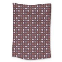 Grey Pink Lilac Brown Eggs On Brown Large Tapestry