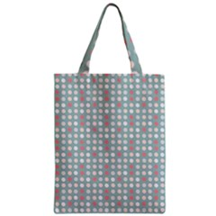 Pink Peach Grey Eggs On Teal Zipper Classic Tote Bag