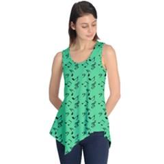 Green Music Sleeveless Tunic