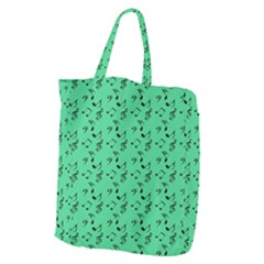 Green Music Giant Grocery Zipper Tote