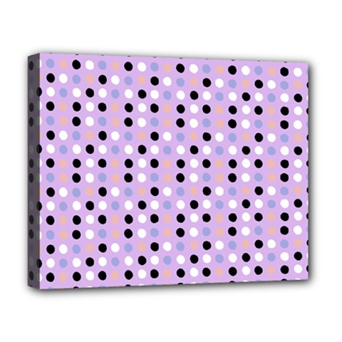 Black White Pink Blue Eggs On Violet Deluxe Canvas 20  X 16