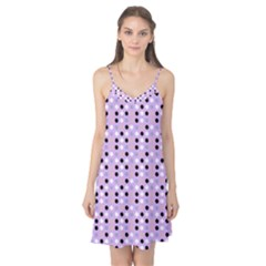 Black White Pink Blue Eggs On Violet Camis Nightgown