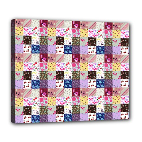 Quilt Of My Patterns Small Deluxe Canvas 24  X 20