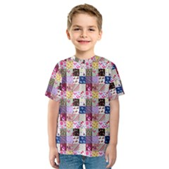 Quilt Of My Patterns Small Kids  Sport Mesh Tee
