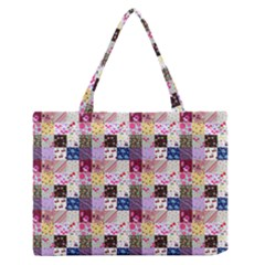 Quilt Of My Patterns Small Zipper Medium Tote Bag