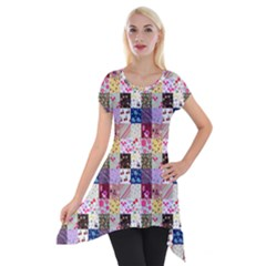 Quilt Of My Patterns Small Short Sleeve Side Drop Tunic