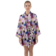 Quilt Of My Patterns Small Long Sleeve Kimono Robe