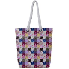 Quilt Of My Patterns Small Full Print Rope Handle Tote (small)