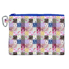 Quilt Of My Patterns Small Canvas Cosmetic Bag (xl)