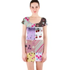 Quilt Of My Patterns Short Sleeve Bodycon Dress